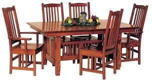 Mission Style Dining Set Table Trestle Keystone Tables