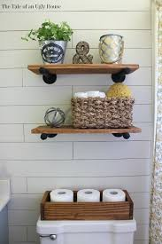 Rustic Bathroom Wall Decor A Farmhouse Bath Makeover Cheapest Shiplap How To