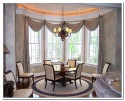 Dining Room Curtains Astonishing Curtainas Bay Window Drapes