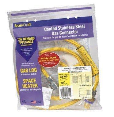 Brasscraft CSSL45E-60P Coated Stainless Steel Gas Connector - 3/8""