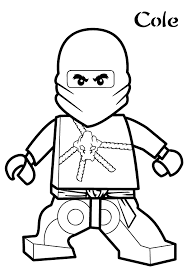 Image Of Lego Ninjago Coloring Pages Cole Design