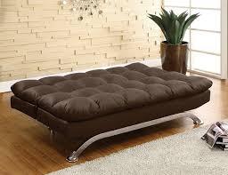 Wayfair Black Leather Sofa by Amazon Com Furniture Of America Adelle Convertible Sofa Futon