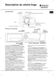 notice seche linge hotpoint ariston description du sèche linge hotpoint ariston tcl 93b 6h z1 fr