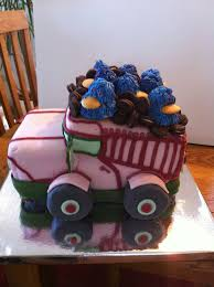 Pink Dump Truck Made For Boomer's 2nd Birthday Party | Grandma Cake ...