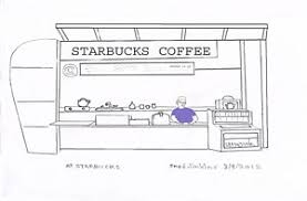 At Starbucks Art Print By Fred Jinkins