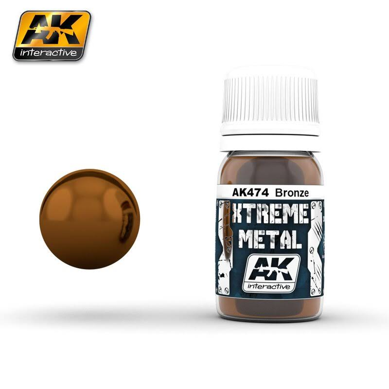 AK Interactive 30ml 00474 Xtreme Metal Paints - Bronze