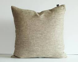 Kdays Burlap Look Light Brown Pillow Cover Decorative For Couch Throw Pillows Handmade Cushion Covers Rustic