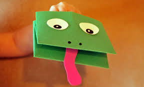 Paper Frog Hand Puppet