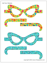 cat eye template cat eye glasses printable templates coloring pages