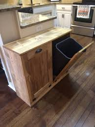 march sale double trash recycle bins rustic tilt out by lovemade14