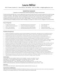 Marketing Manager Resume Examples Sample Miller With Regard To Brand Skills