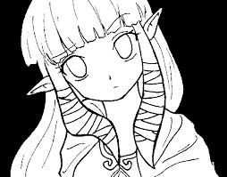Princess Zelda Coloring Page
