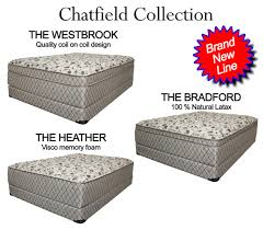 chatfield collection quality mattress sets from corsicana bedding inc