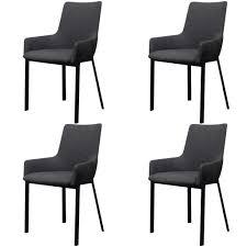 vidaxl esszimmerstühle 4 stk dunkelgrau stoff