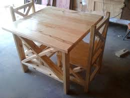 Rustic X Table And Chairs