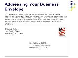 Addressing Business Letter Envelope Where To Put The Address A