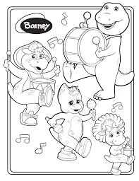 Free Printable Barney Coloring Pages For Kids With Friendship