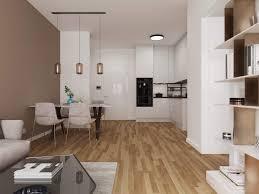 moderner wohnraum wohn esszimmer offene küche neubau