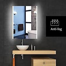 backlit lighted led bathroom vanity mirror frameless