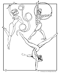 Picture Gymnastics Coloring Pages 46 For Your Online With