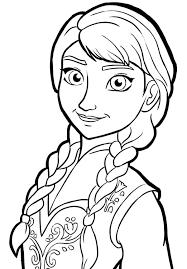 Disney Frozen Princess Anna Colouring Page