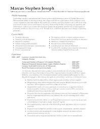 Resume Summary Examples For Freshers On A Example College