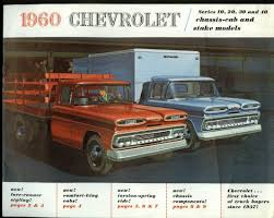 100 1960 Chevrolet Truck Series 10 20 30 40 ChassisCab Stake Brochure