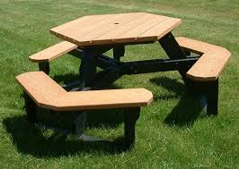 hexagonal picnic table youtube