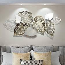 lbxke kreative handgemachte blätter wanddekoration aus metall moderner luxus wandkunst wanddekoration für