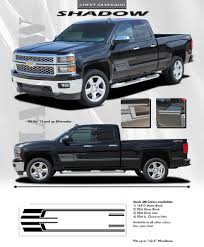 100 Chevy Truck Accessories 2014 2015 Silverado SHADOW 3M Vinyl Graphics Stripes