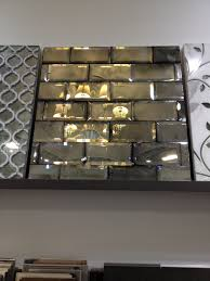 antique mirrored subway tiles with beveled antiqued
