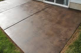 Patio Floor Ideas On A Budget by How To Stain A Concrete Patio Chris Loves Julia