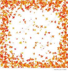Autumn Leaves Background Falling maple leaves border