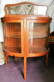 Curved Glass Curio Cabinet Antique by Antique Sideboard Tiger Oak Curved Glass Doors Curved Glass