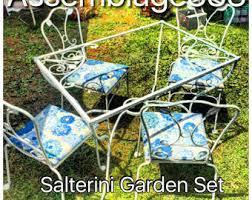 Salterini Iron Patio Furniture by Salterini Etsy