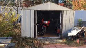 Arrow Shed Door Assembly by Cheap Storage For Your Motorcycle Arrow Shed 300 Youtube
