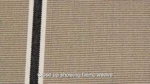 Video Of Sunbrella Putty Regimental Awning Stripe Fabric 4961-0000 ... Sunbrella Awning Stripe 494800 Sapphire Vintage Bar 46 Fabric 494600 Blacktaupe Fancy Video Of Yellow White 6 5702 Colonnade Juniper 4856 46inch Striped And Marine Outdoor Forest Green Natural 480600 Awnings Porch Valances Home Spun Style This Awning Features Westfield Mushroom Milano Charcoal From Fabricdotcom In The