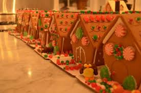 Holiday Parties For Children Decorating Gingerbread Houses