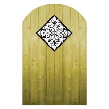 ProGuard Treated Wood Gate with Decorative Insert FP12QFFG06