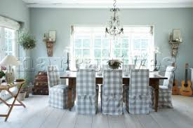 Dining Room With Loose Covered Chairs