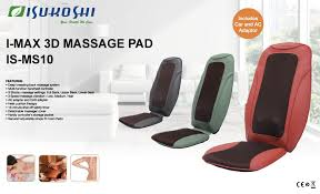 Back Massage Pads For Chairs by I Max 3d Pad Isukoshi