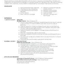 Babysitting Job Description U2013