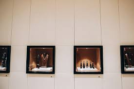 Custom Insetnbspjewelry Display Cases Flush With The Gorgeous Covered Wall