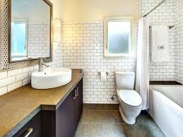 black and white subway tile backsplash bathrooms design grey