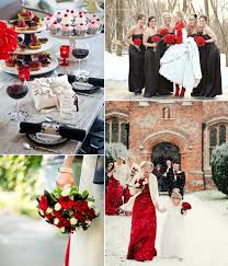 Black And Red Wedding Decoration Color Ideas Bridesmaid Dresses Styles