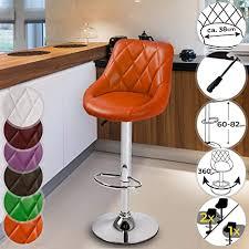 barhocker mit lehne aus kunstleder höhenverstellbar 60 82 cm 360 drehbar bis 150 kg belastbar aus stahl farbwahl setwahl barstuhl