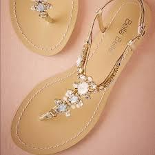 BHLDN Tulum Jeweled Beach Wedding Flat Sandals 65