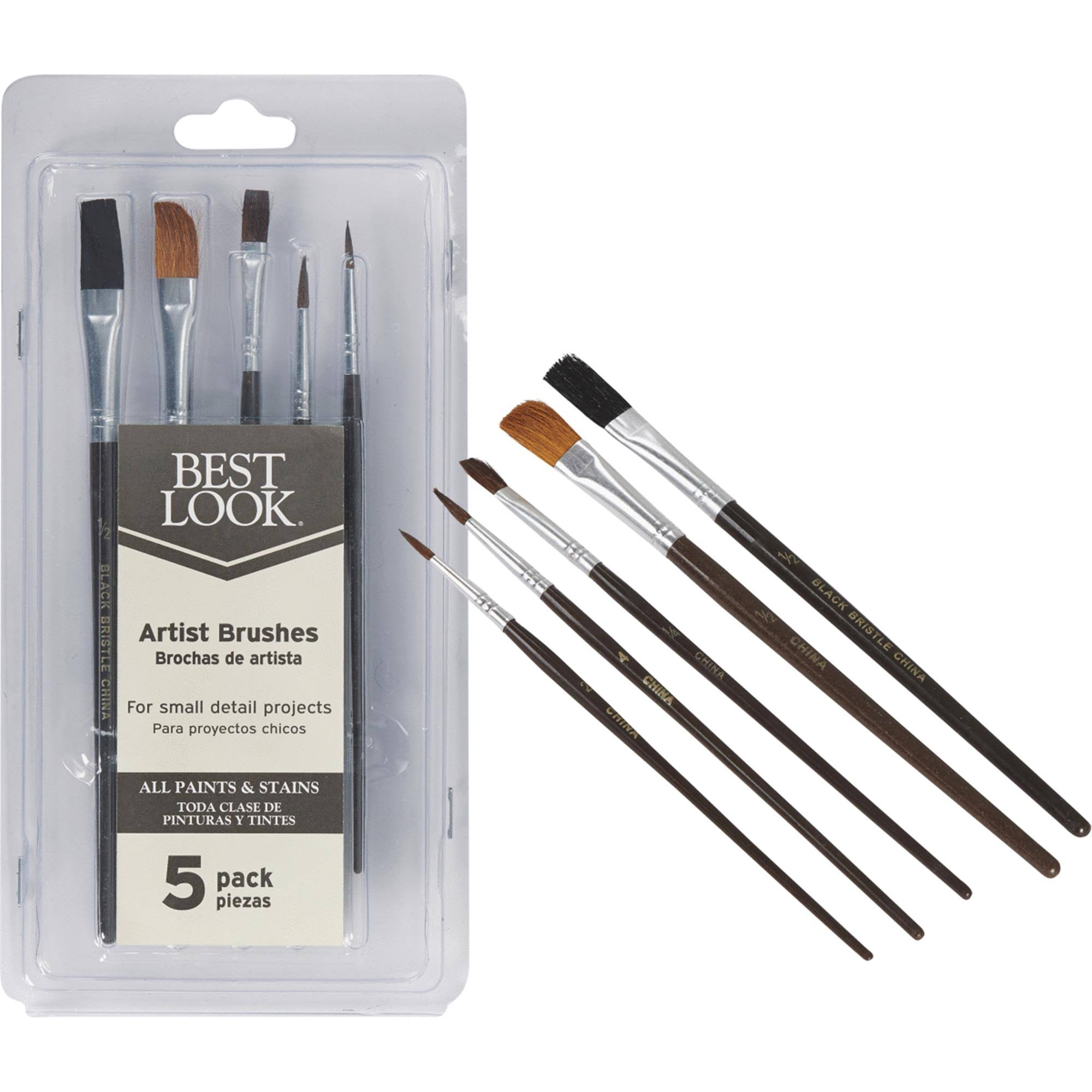 Do It Best Artist Brush Set - 5pcs