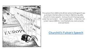 Winston Churchill Iron Curtain Speech Video by Please Turn Your Chair So You Have Your Back To Your Partner One