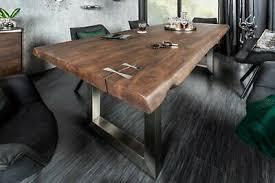 esszimmertisch tisch eiche massiv 200x90 mit baumkante in
